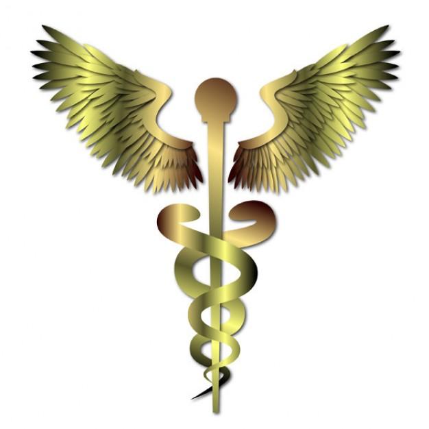 Or médical caducée signe métal - fr.freepik.com