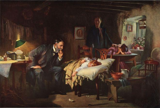 Le médecin, de Samuel Luke Fildes (1891) - Luke Fildes - Beyond My Ken - Wikimedia Commons
