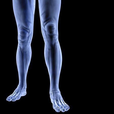 Pieds de l'homme sous les rayons X. isolé sur noir - 123RF